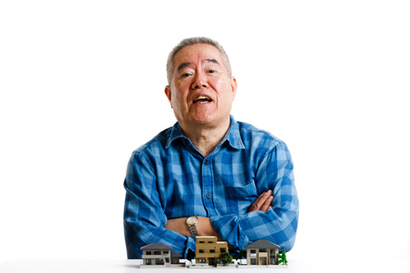 Senior Japanese male and residential model 写真素材