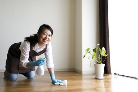 Una mujer de la limpieza