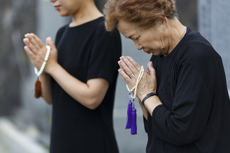 Japanese women wearing mourning clothes
