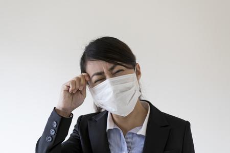 Medical masks and Asian women