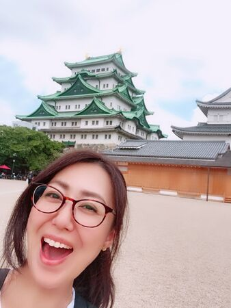 Nagoya castle and women
