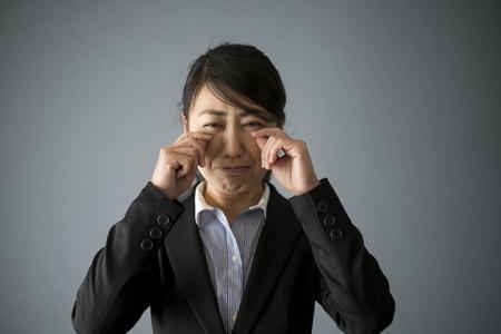 Crying business woman Фото со стока