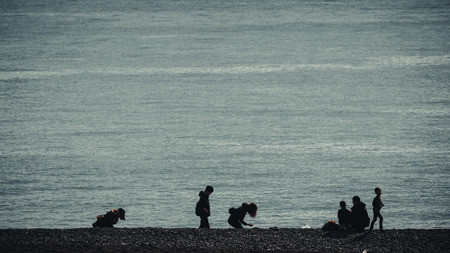 Sea and people
