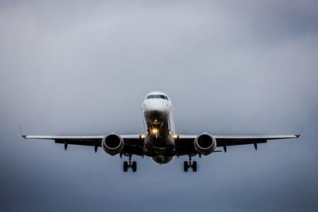 Airplane and sky