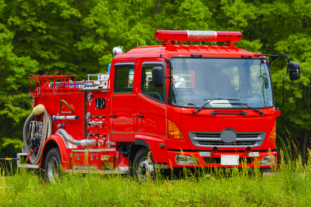 Japanese Fire Truck Banque d'images