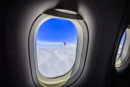 Airplane and window