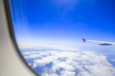 Airplane and window