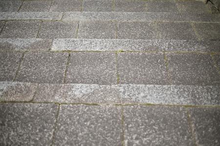 Stone and the ground Stockfoto