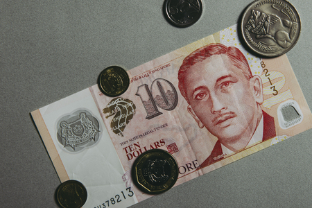 Singapore and the dollar Banque d'images