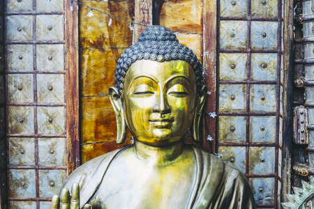 Image and Buddha statue