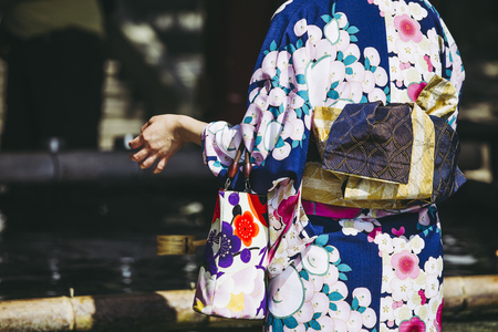 Yukata and back of a woman