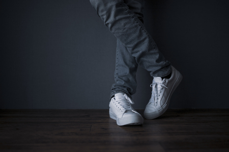 Jeans and sneakers