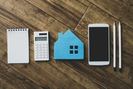 Housing and calculator 写真素材