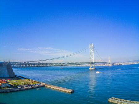 Akashi Bridge and landscape