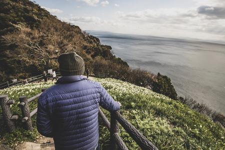 Elderly men and landscape Reklamní fotografie