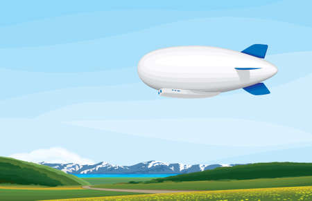 Blimp Illustration