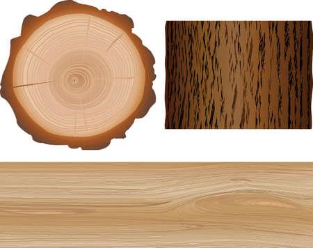 cross section: wooden elements Illustration