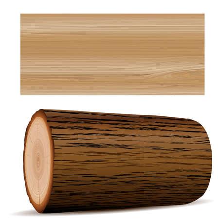 wooden elements Illustration