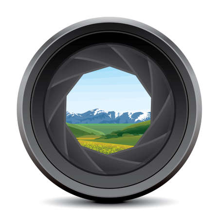 photography background: camera lens