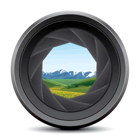 camera lens: cameralens Stock Illustratie