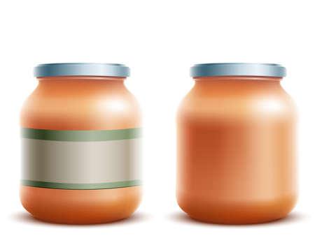 gelatin: jar with label