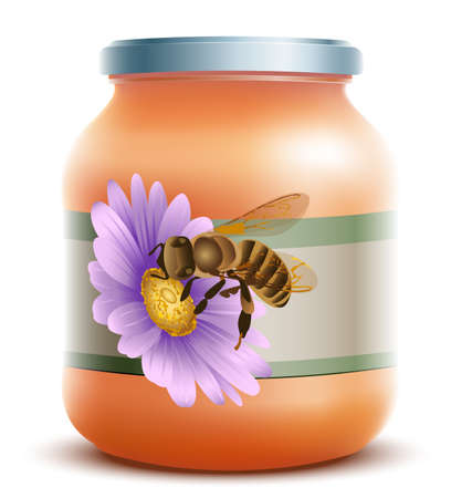 Honey Jar Stock Vector - 20926732