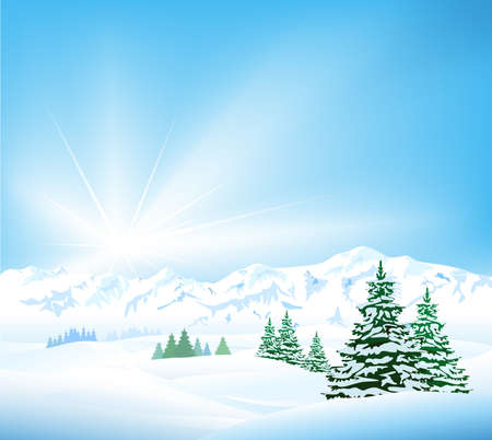 Winter background Stock Vector - 20926737
