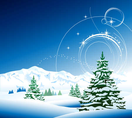 Winter background Stock Vector - 21917261