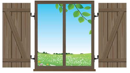window spring Illustration