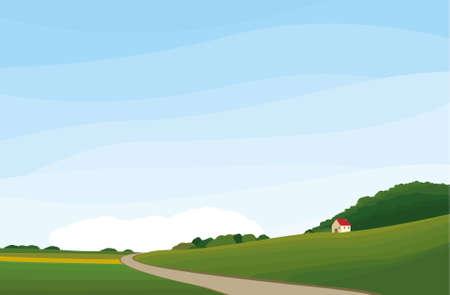 Summer house Illustration