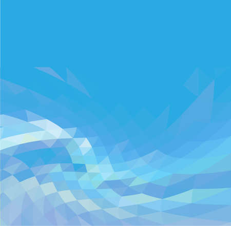 Abstract Blue Triangle Geometrical Background