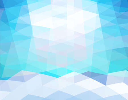 Abstract blue geometric style background Illustration