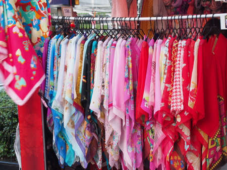 blouses: Colorful Blouses in the Shop on New Year Chinese