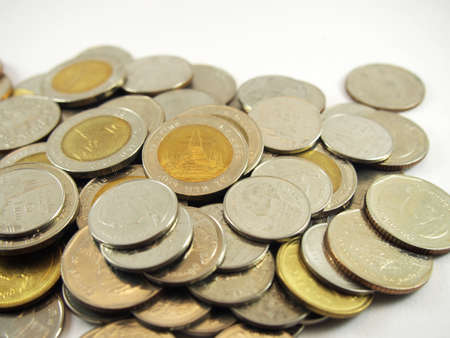 collected: Financial business, collected coins, thai money