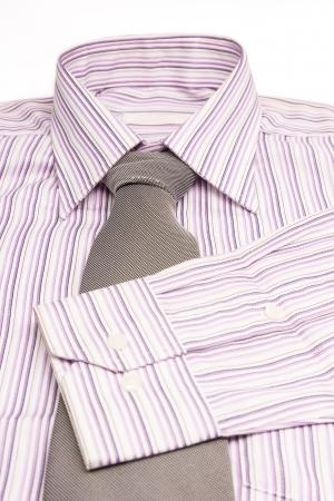 pink shirts isolated on white photo