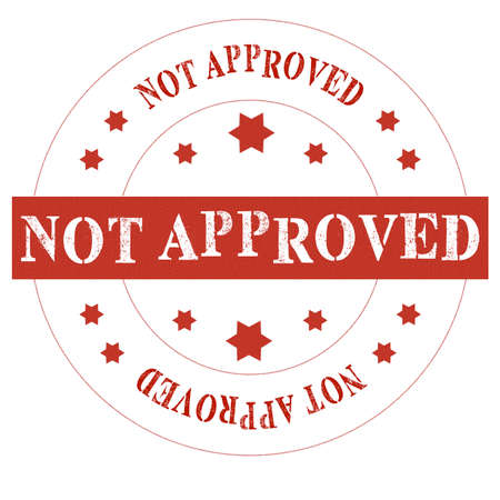 disapprove: Red seal not approved on white