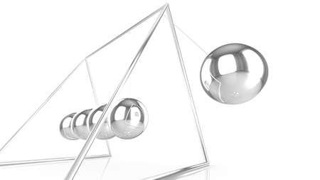 pendulum: pendulum with silver spheres