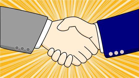 business deal: Shaking hands of two businessmen illustration Illustration