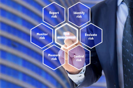 explained: Risk management framework explained by a business expert in front of office background
