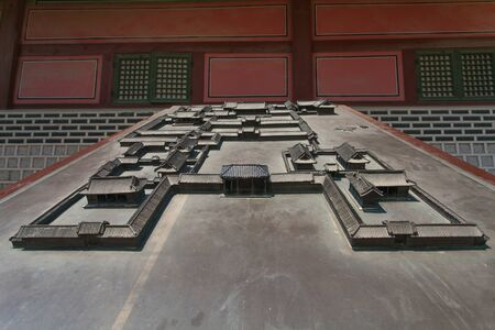 Model of  Korea Palace area