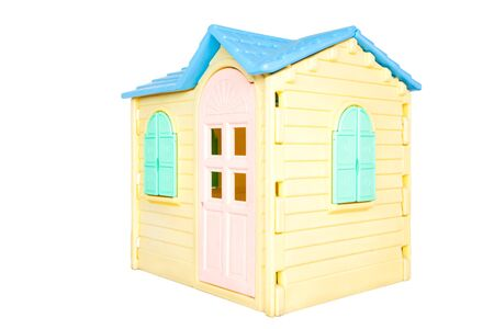 Children toy house  isolated on white