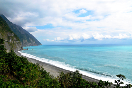 Qingshui cliff in Taiwan, Famous for turquoise water