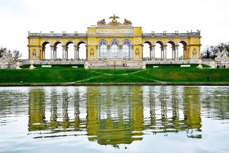 schloss schonbrunn: The Gloriette in Schonbrunn Palace Garden, Vienna, Austria Editorial