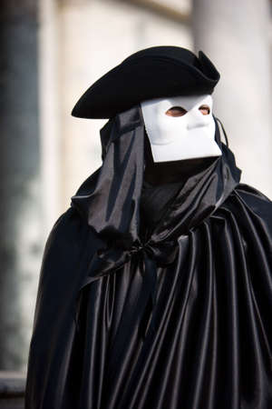 conceal: Man in mask during Carnival of Venice
