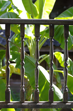 old wood balustrade
