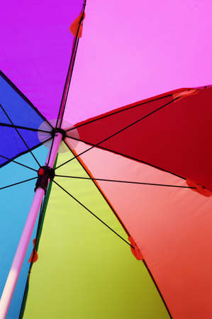 structure of umbrella Stock Photo