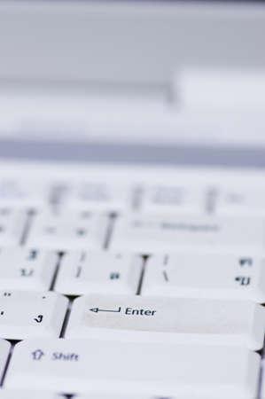 close up of computer keyboard Stock Photo
