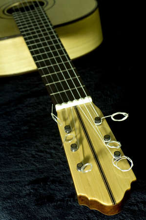 the classical guitar handmade Stock Photo - 8468471