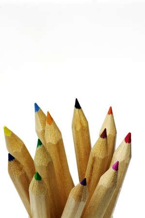 closeup of color pencils Stock Photo - 9261301