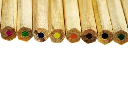closeup of color pencils Stock Photo